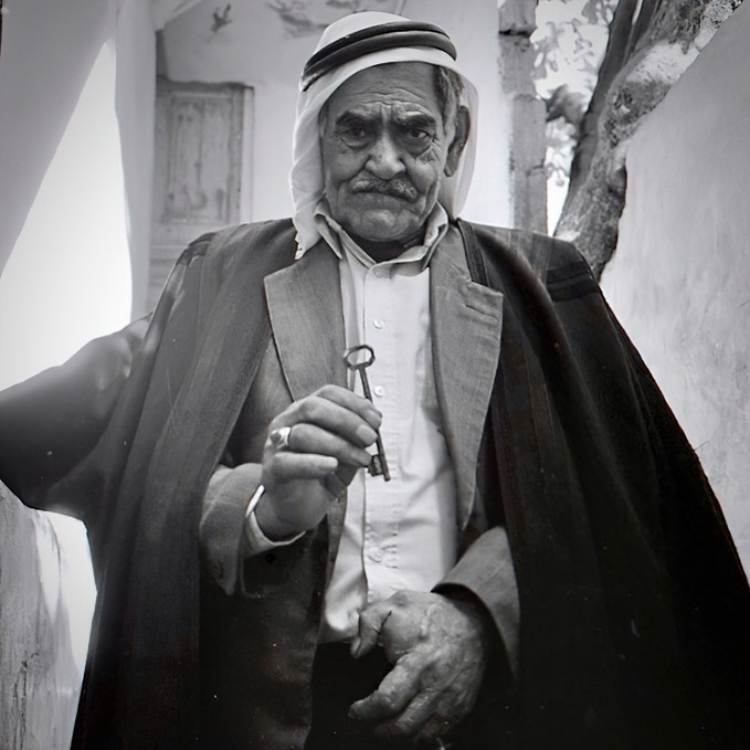 Ahmed Al Sherif refugee, Holds the Key to His 1948 Home in Historic Palestine