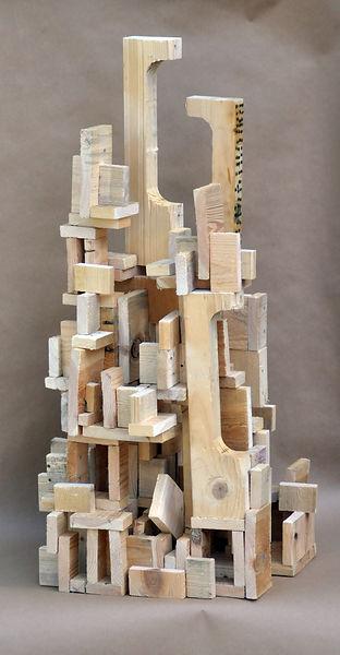 P 1, 34x17x18, wood, glue, nailhe