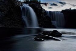 Lundbreck Falls at dusk