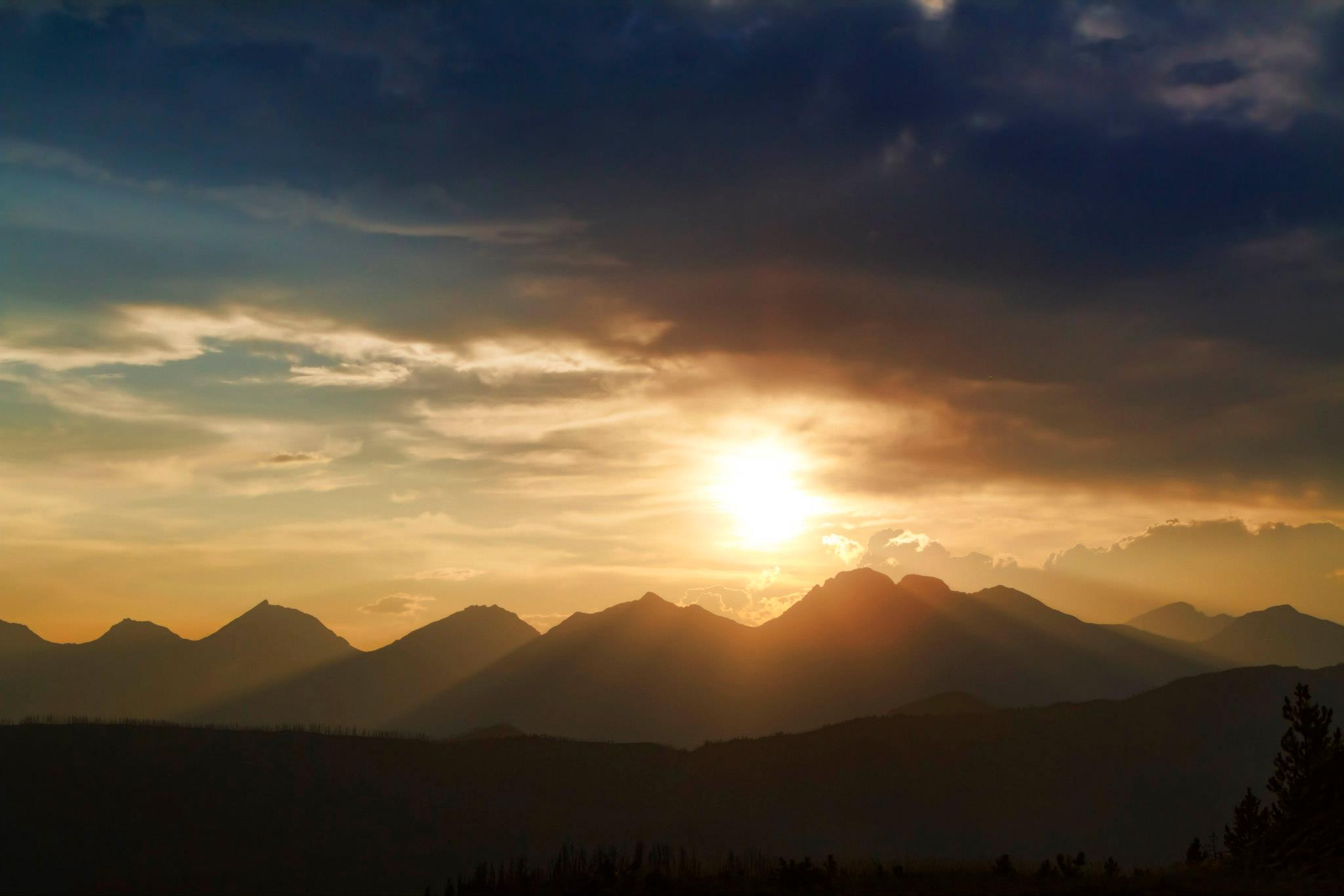 Sunset in the Rockies