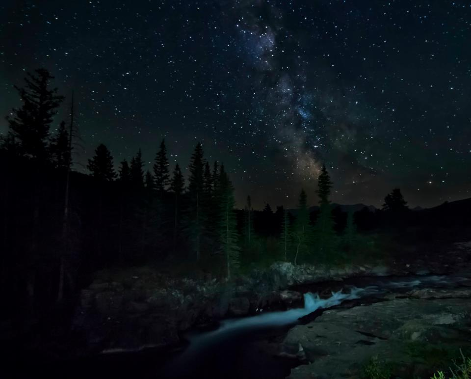 Milkyway over Castle Falls