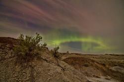 Aurora Borealis over the Badlands
