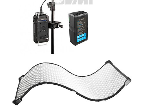 fomex fl1200 led doek, draagbaar met vlock bats