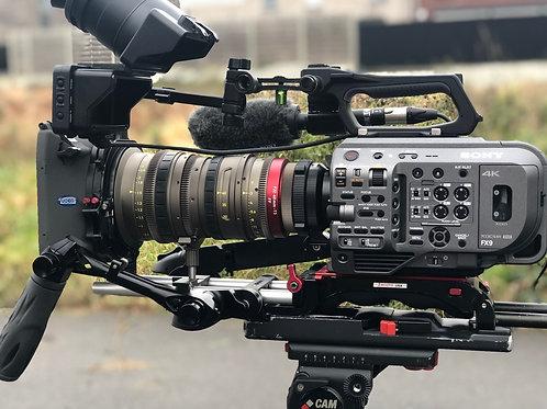 Sony Fx9 + Angenieux zoom EZ2 22-60 3.0 draaiklaar