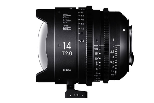 Sigma 14mm 2.0 Cine  EF mount