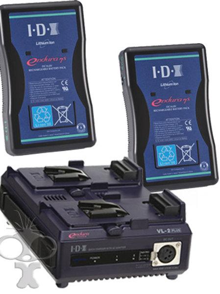 Set van 2 v-lock batterijen + lader