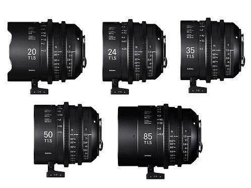 Sigma cine primes set 20 24 35 50 85 1.5 EF mount