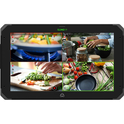 19 inch Atomos sumo daylightviewable  4 channel  prog recorder incl 2x 500GB SSD