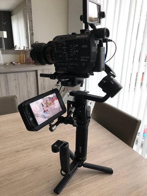 Sony Fs5mk2 + Ronin-S + Follow focus motor + smalHD 503 High bright