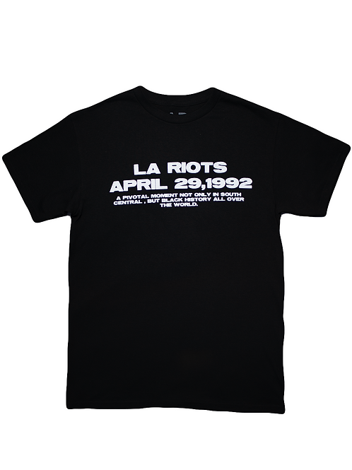 Black L.A Riots Tee