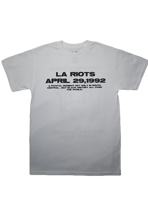 White L.A Riots Tee