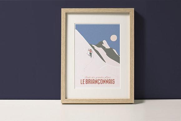 Affiche Le Briançonnais - Randonneur