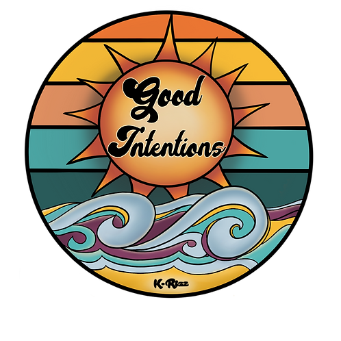 Good Intentions Sticker, Magnet or Pin