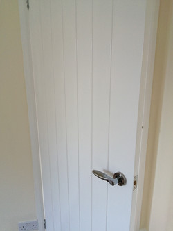 New door finished in satinwood