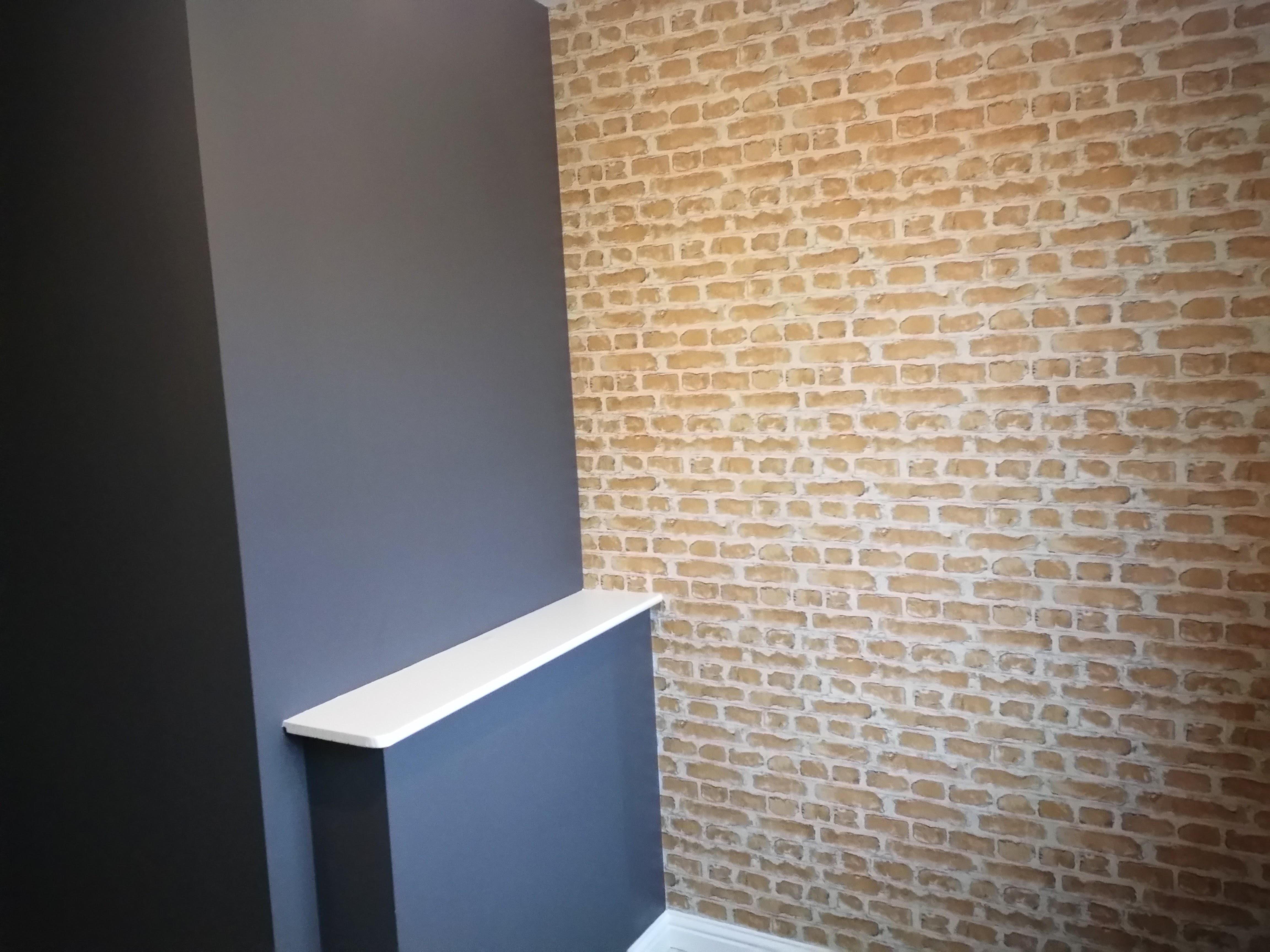 Whitehead Brick Wallpaper Bowler Hat Paint