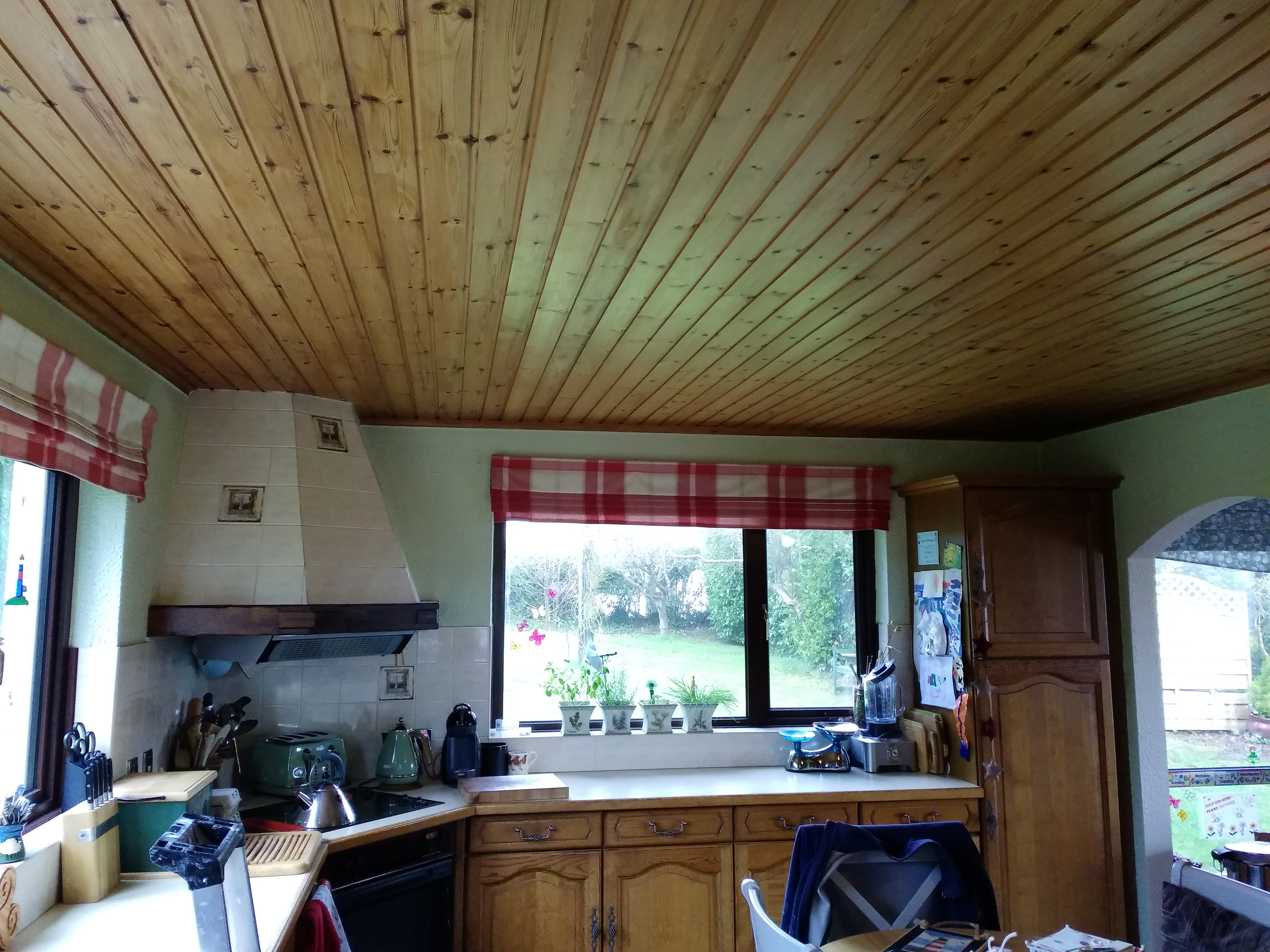 Ballygally Kitchen Ceiling Before