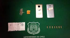Gendarmes de San Felipe incautan municiones lanzadas desde el exterior de la unidad penal