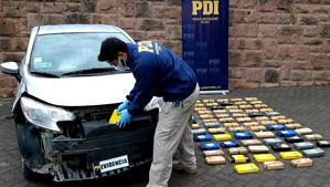 PDI Los Andes detecta millonario cargamento de cocaína oculto en automóvil