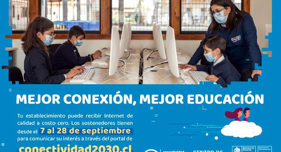 """Mineduc abre convocatoria para proyecto """"Conectividad para la Educación 2030"""""""