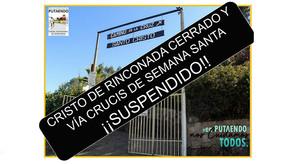 Anuncian cierre del Cristo de Rinconada de Silva y suspensión del tradicional Vía Crucis de Semana S