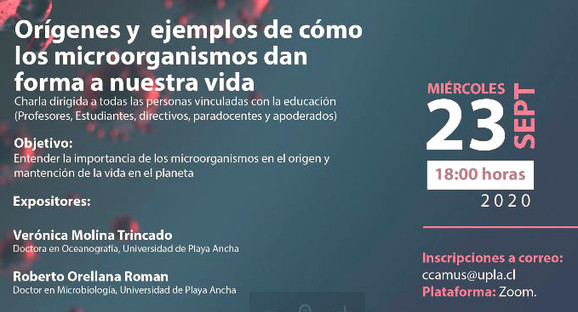 Invitan a seminario gratuito sobre cómo los microorganismos dan forma a nuestra vida