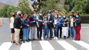 Ministro MOP junto a alcalde Pradenas inauguraron nuevo acceso a villas Sueño Dorado y 9 de octubre
