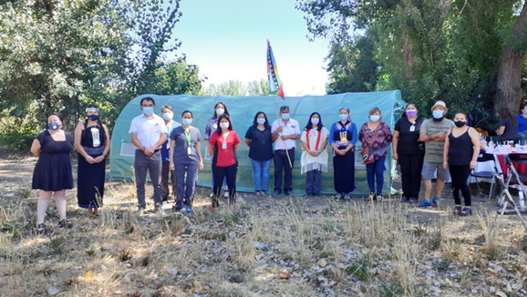 Agrupación indígena Futa Repu de Calle Larga inauguró vivero de hierbas medicinales