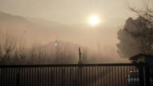 Paralizan extensa quema ilegal de desechos agrícolas en el sector Santa Rosa de Catemu