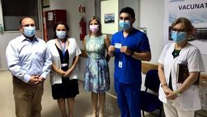 Comenzó proceso de vacunación contra el Covid 19 en Aconcagua
