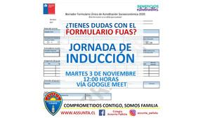 Colegio Assunta Pallota realizó jornada de inducción a estudiantes para completar formulario FUAS