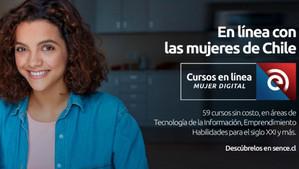 """""""Mujer Digital"""": 59 cursos en línea disponibles para las provincias de San Felipe y Los Andes"""