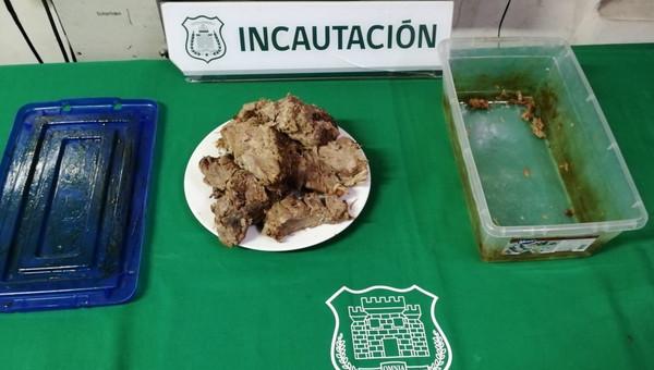Incautan resina de Marihuana en cárcel de Los Andes