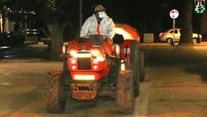 Ante el aumento de contagios por Covid en la provincia Calle Larga retomó las sanitizaciones