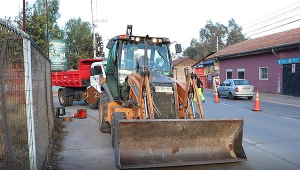 Se iniciaron trabajos de conservación en la ruta 57 de Calle Larga