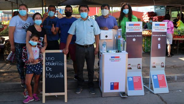 Feriantes cuentan con completa implementación para enfrentar alza de contagios por Covid