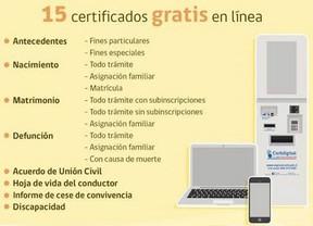 15 certificados del Registro Civil ya se pueden descargar gratis online