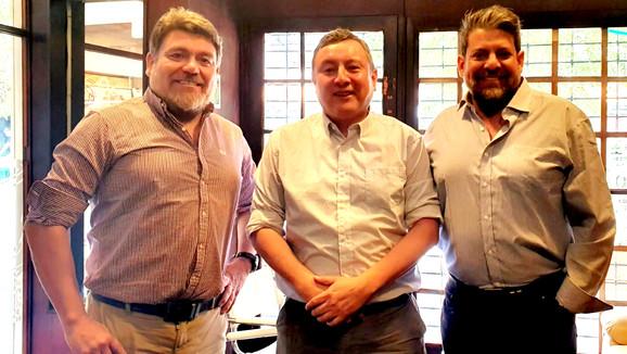Nelson Venegas y Jaime Álvarez manifiestan su apoyo a Marcelo Merino como candidato a alcaldía