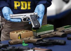 PDI Los Andes desbarató banda que proveía de armas a organizaciones criminales