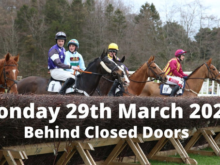 Hurworth Point to Point - Monday 29th March - Behind Closed Doors