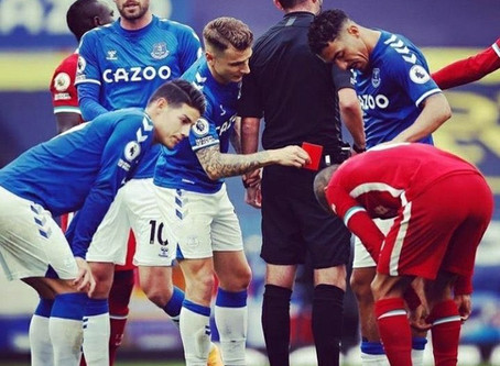 Everton players see funny side of Richarlison trying to break Thiago's leg
