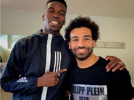Pogba 'plotting' with Liverpool's Mo Salah