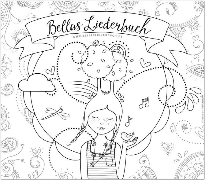 Coloring page Bellas Liederbuch!