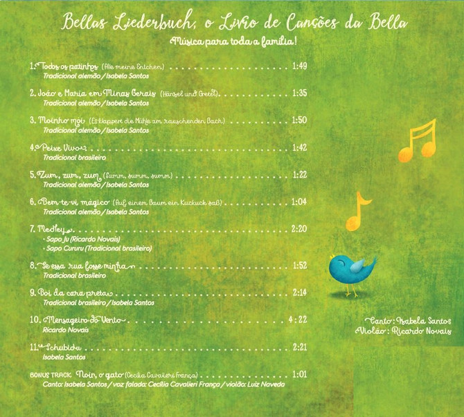 Die Lieder der CD ; as canções do CD