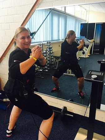 Steffi im Training.
