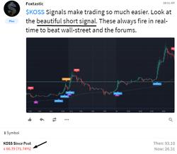 $KOSS  Stock Trading Ideas