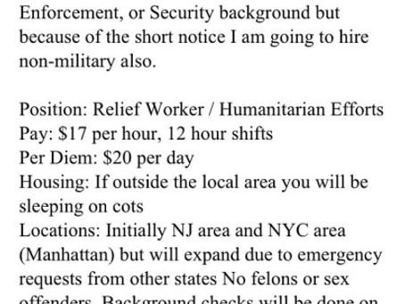 NY/NJ Hurricane Sandy Relief!!!