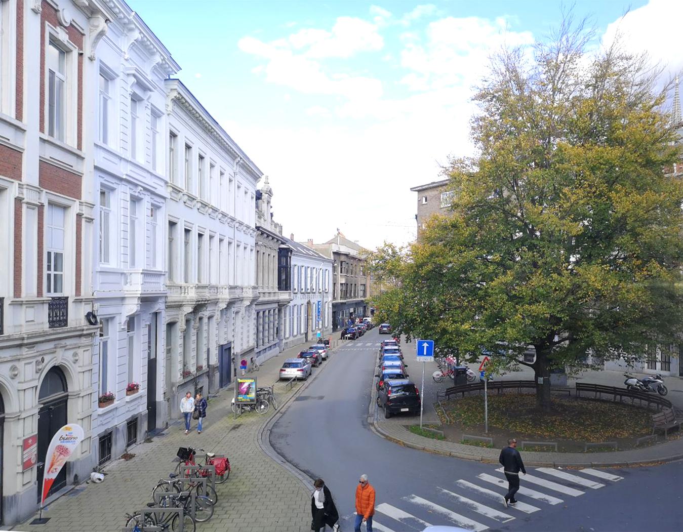 zicht in de straat