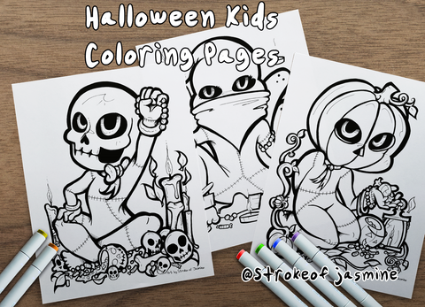 Halloween Color Pages