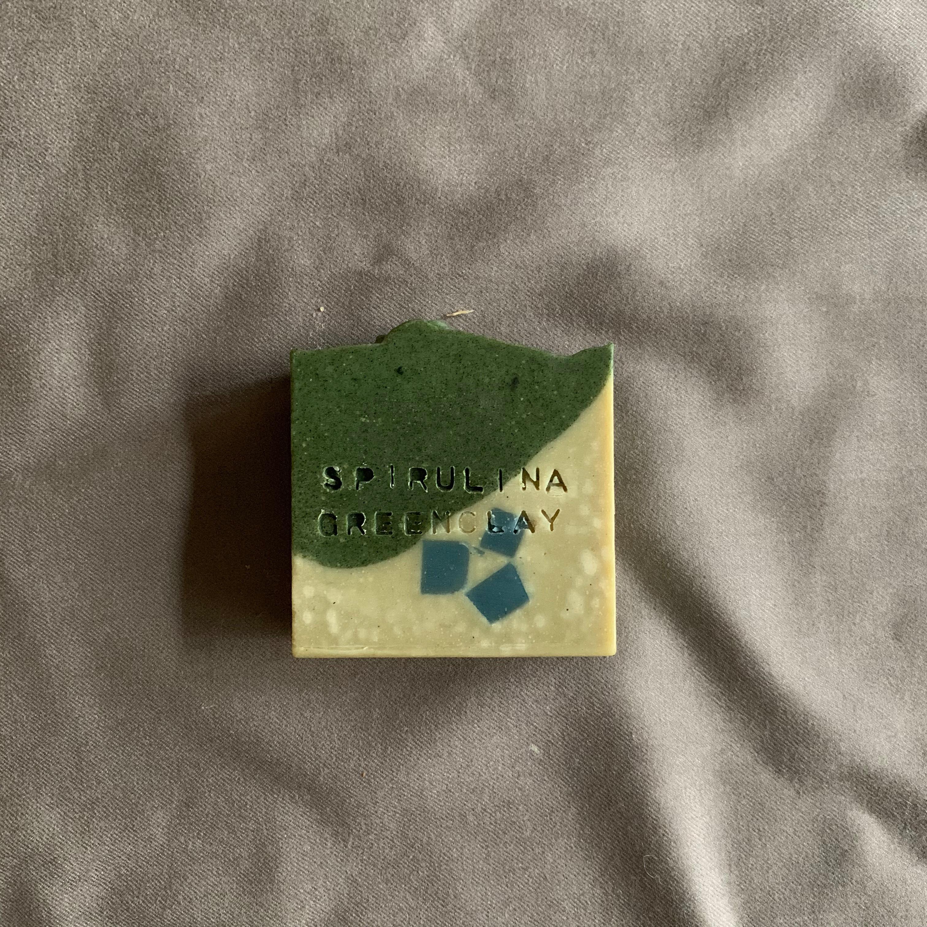 Spirulina&GreenClay Soap 螺旋藻綠石泥皂