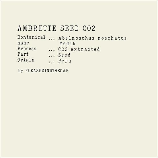 Ambrette Seed Extra CO2 essential oil 3ML   特級黃葵籽CO2精油 3ML